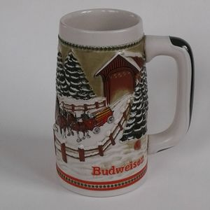 Vintage 1980's Budweiser Collectable Beer Stein
